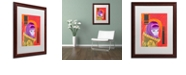 "Trademark Global Craig Snodgrass 'Astro-Anna I' Matted Framed Art, 16"" x 20"""