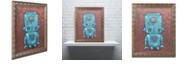 "Trademark Global Craig Snodgrass 'Wee-Bot-Blue' Ornate Framed Art, 16"" x 20"""