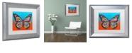 """Trademark Global Dean Russo 'Butterfly' Matted Framed Art, 11"""" x 14"""""""