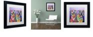 "Trademark Global Dean Russo 'Peas In A Pod' Matted Framed Art, 11"" x 11"""