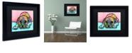 "Trademark Global Dean Russo 'Lying Boxer' Matted Framed Art, 11"" x 14"""