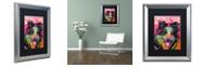 "Trademark Global Dean Russo 'Border Collie Luv' Matted Framed Art, 16"" x 20"""