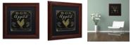 "Trademark Global Color Bakery 'La Cuisine V' Matted Framed Art, 11"" x 11"""