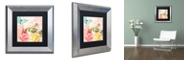 """Trademark Global Color Bakery 'Florabella I' Matted Framed Art, 11"""" x 11"""""""