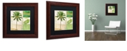 "Trademark Global Color Bakery 'Paradise Ii' Matted Framed Art, 11"" x 11"""