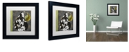 """Trademark Global Color Bakery 'Decorative Pear Ii' Matted Framed Art, 11"""" x 11"""""""