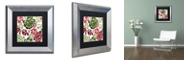 "Trademark Global Color Bakery 'Woodlands Christmas Ii' Matted Framed Art, 11"" x 11"""