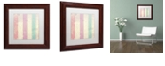 "Trademark Global Color Bakery 'Petals Of Paris Vii' Matted Framed Art, 11"" x 11"""