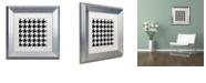 "Trademark Global Color Bakery 'Houndstooth Ii' Matted Framed Art, 11"" x 11"""