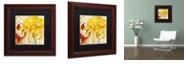"Trademark Global Color Bakery 'Chrysanthemums Ii' Matted Framed Art, 11"" x 11"""