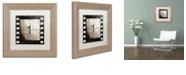 "Trademark Global Color Bakery 'Vintage Countdown I' Matted Framed Art, 11"" x 11"""