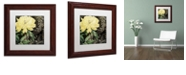 """Trademark Global Color Bakery 'Ode To Yellow I' Matted Framed Art, 11"""" x 11"""""""