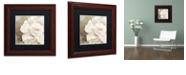 "Trademark Global Color Bakery 'Petals Impasto Ii' Matted Framed Art, 11"" x 11"""