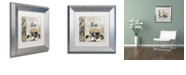 "Trademark Global Color Bakery 'Art Of Tea I' Matted Framed Art, 11"" x 11"""