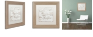 "Trademark Global Color Bakery 'Bon Mots I' Matted Framed Art, 11"" x 11"""