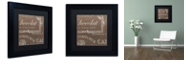 "Trademark Global Color Bakery 'Bon Mots Iii' Matted Framed Art, 11"" x 11"""