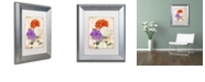 "Trademark Global Color Bakery 'Chrysanthemums' Matted Framed Art, 11"" x 14"""