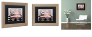 """Trademark Global Color Bakery 'Poitrine Rose' Matted Framed Art, 11"""" x 14"""""""