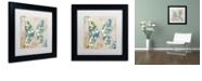 "Trademark Global Color Bakery 'Winged Tapestry I' Matted Framed Art, 11"" x 11"""