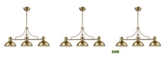 ELK Lighting Chadwick 3 Light Island in Satin Brass with Frosted Glass Diffusers