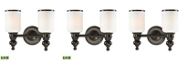 ELK Lighting Bristol Collection 2 light bath in Oil Rubbed Bronze - LED, 800 Lumens (1600 Lumens Total) with Ful