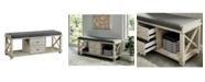 Furniture of America Karthie Two-Drawer Shoe Bench