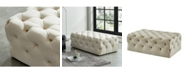 Furniture of America Pendleton IV Beige Tufted Ottoman