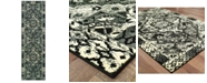 """Oriental Weavers Luna 5603K Black/Ivory 2'3"""" x 7'6"""" Runner Area Rug"""
