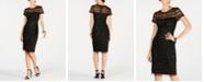 Adrianna Papell Embellished Illusion Dress