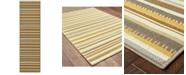 """Oriental Weavers Bali 1001J Gray/Gold 2'3"""" x 7'6"""" Indoor/Outdoor Runner Area Rug"""