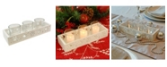 JH Specialties Inc/Lumabase LumaBase Snowflake Candle Tray with 3 Glass Votive Holders