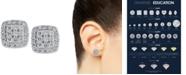Macy's Diamond (1/2 ct. t.w.) Stud Earrings in 14k White Gold