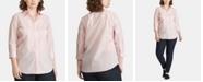 Lauren Ralph Lauren Plus Size Striped Shirt