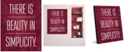 """Creative Gallery There is Beauty in Simplicity on Burgundy 16"""" x 20"""" Metal Wall Art Print"""