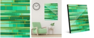 "Creative Gallery Color Palette Yellow Outline - Aqua Green Abstract 24"" x 36"" Acrylic Wall Art Print"