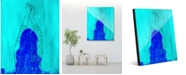 """Creative Gallery Cobalt Valkyrie Abstract of Woman 16"""" x 20"""" Acrylic Wall Art Print"""