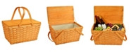 Picnic At Ascot Lined Basket, Traditional American Picnic Style - Family Size