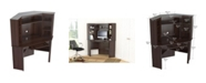 Inval America Velvedire Corner Workstation with Hutch