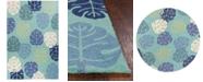 Kas Harbor Palms 4228 Turquoise Indoor/Outdoor Area Rug