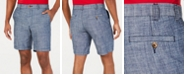 Club Room Men's Chambray Cotton Shorts, Created for Macy's