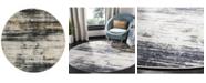 Safavieh Adirondack Light Gray and Black 6' x 6' Round Area Rug