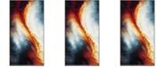 "Safavieh Galaxy Orange and Multi 2'7"" x 5' Area Rug"