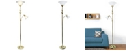 All The Rages Elegant Designs 2 Light Mother Daughter Floor Lamp with White Marble Glass
