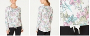 Ideology Floral-Print Tie-Front Top, Created for Macy's