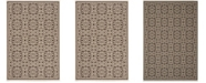 "Safavieh Linden Natural and Brown 5'1"" x 7'6"" Area Rug"