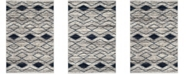 "Safavieh Tunisia Light Gray and Blue 5'1"" x 7'6"" Area Rug"