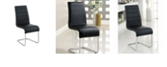 Benzara Contemporary Black Side Chair with Steel Tube - Set Of 2