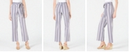 NY Collection Petite Striped Tie-Waist Pants