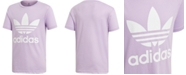 adidas Big Girls Trefoil Logo Cotton T-Shirt