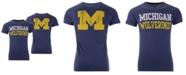 Retro Brand Men's Michigan Wolverines Team Stacked Dual Blend T-Shirt